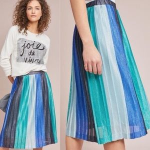 NWT Maeve by Anthropologie Midi Pleated Skirt